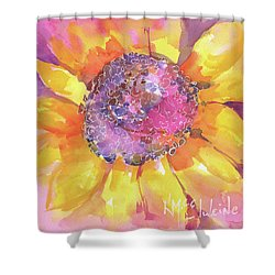 Pink Purple Yellow Sunflower  Shower Curtain