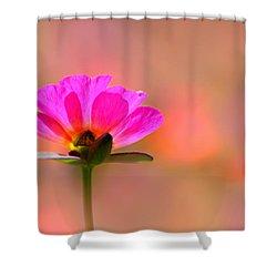 Pink Purslane Shower Curtain