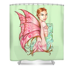 Pink Ribbon Fairy For Breast Cancer Awareness Shower Curtain