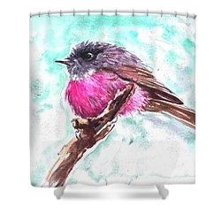 Pink Robin  Shower Curtain