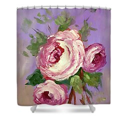 Pink Rose Shower Curtain by Janet Garcia