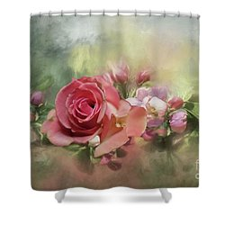 Pink Rose For Mom Shower Curtain