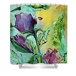 Pink Rosebuds Shower Curtain