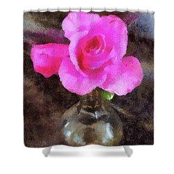 Pink Rozalea Shower Curtain