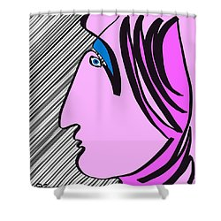 Pink Scarf Shower Curtain