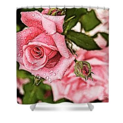 Pink Serenity Shower Curtain