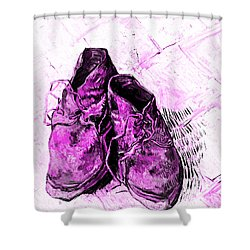 Shower Curtain featuring the photograph Pink Shoes by John Stephens