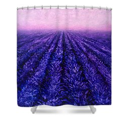 Pink Skies - Lavender Fields Shower Curtain