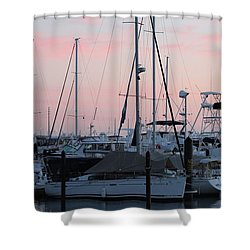 Pink Skies Shower Curtain by Nance Larson