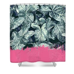 Pink Sorbet On Jungle Shower Curtain