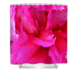 Pink Splash Shower Curtain