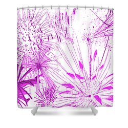 Shower Curtain featuring the digital art Pink Splash Watercolor by Methune Hively