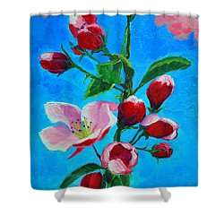 Pink Spring Shower Curtain by Ana Maria Edulescu