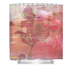Pink Striped Tulip Flower Shower Curtain