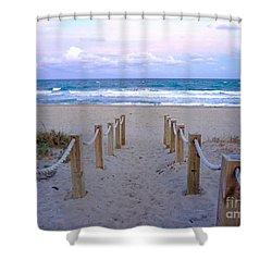 Pink Sunrise Beach Treasure Coast Florida C6 Shower Curtain