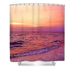 Pink Sunrise Shower Curtain by Kristin Elmquist