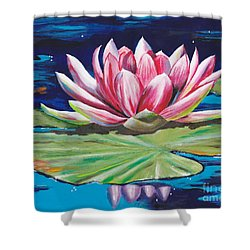 Pink Tranquility Shower Curtain