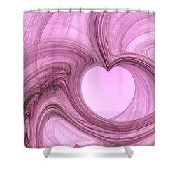Pink Valentine Shower Curtain