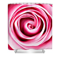 Shower Curtain featuring the mixed media Pink Vortex by Lucia Sirna