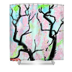 Pink Wisteria Shower Curtain