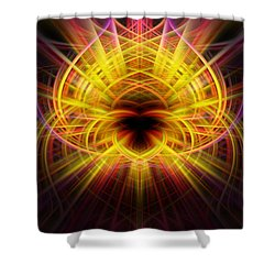 Pink/yellow Twirls Shower Curtain by Cherie Duran