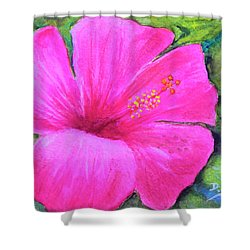Pinkhawaii Hibiscus #505 Shower Curtain by Donald k Hall