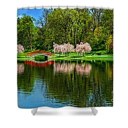 Pinks And Reds Shower Curtain