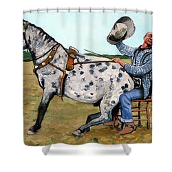 Pinky And Gert Shower Curtain by Tom Roderick