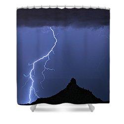 Pinnacle Peak Lightning  Shower Curtain by James BO  Insogna