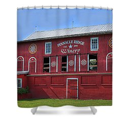 Shower Curtain featuring the digital art Pinnacle Ridge Winery by Sharon Batdorf