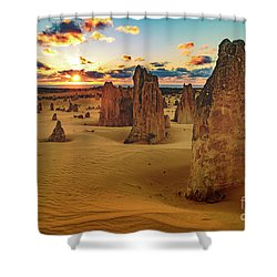 Pinnacles 8 Shower Curtain