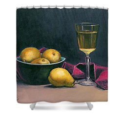 Pinot And Pears Still Life Shower Curtain