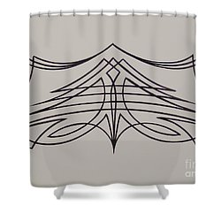 Pinstripe Black On White Shower Curtain