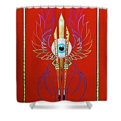 Pinstriper's Icon Shower Curtain