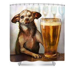 Pint Sized Hero Shower Curtain by Sean ODaniels