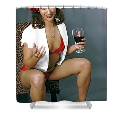 Pinup Babe Shower Curtain