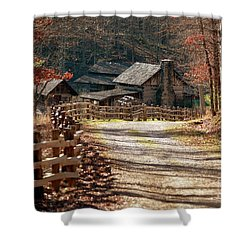 Shower Curtain featuring the photograph Pioneer Farm by Brenda Bostic