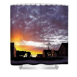 Pioneer Town Sunset Shower Curtain