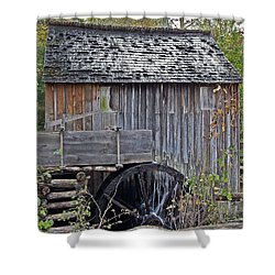 Pioneer Water Mill Shower Curtain by DigiArt Diaries by Vicky B Fuller