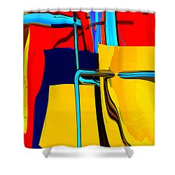Pipe Dream Shower Curtain by Richard Rizzo