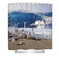 Pipe Foam Shower Curtain