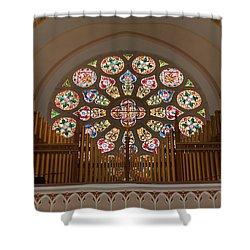 Pipe Organ - Church Shower Curtain