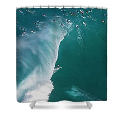 Pipe Tube Overvew Shower Curtain