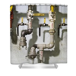 Pipes And Valves Shower Curtain