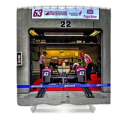Pippa Mann Garage 2016 Shower Curtain