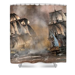 Pirate Battle Shower Curtain
