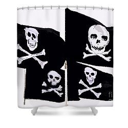 Pirate Flags Shower Curtain by David Lee Thompson