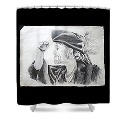 Pirate Mikey Portrait Drawing Shower Curtain