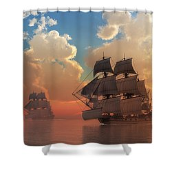 Pirate Sunset Shower Curtain