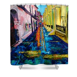 Pirates Alley From The Square Shower Curtain